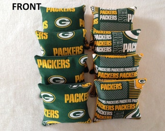 Green Bay Packers bean bags set of 8(ready to ship)