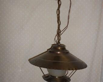Light Fixture  Ceiling mount Antique brass color
