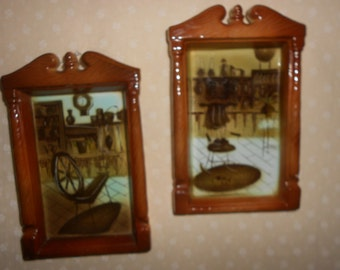Enesco Old Home Wall Plaques set of 2