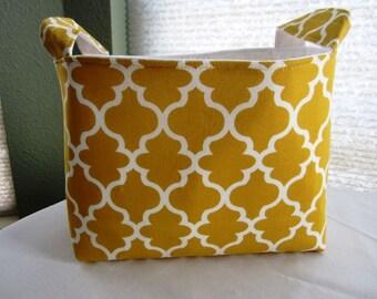 Organizer Storage Basket Bin Container Fabric  - Yellow Garden Tarika