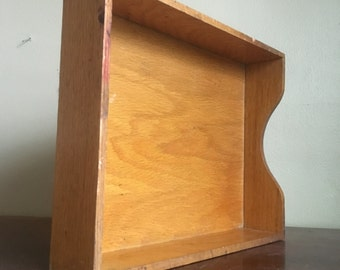 Vintage Dovetailed Wooden Drawer Organizer.