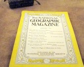 January 1944 Issue - National Geographic Magazine - Original Copy – Post World War 2 Issue - Vintage Collectible Magazine