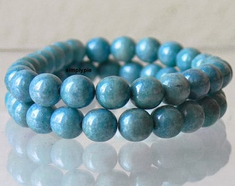 Opaque Denim Luster Lumi Czech Beads, 8mm 20 Glass Round Druk