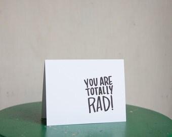 totally rad (4x5 card + envelope)