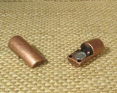 25% OFF SALE 25 Percent OFF Slim Curve Magnetic Bracelet Clasps for 5mm Round Leather - Antique Copper - Choose Your Quantity