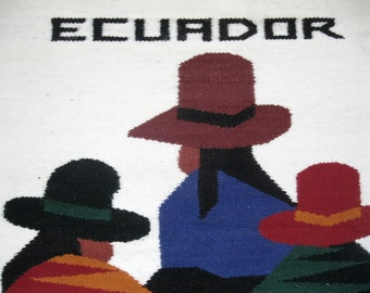 Wall Hanging, Ecuador, Woven, Weaved, Ecuadorian, South American, Native, Textile, South America, by mailordervintage on etsy