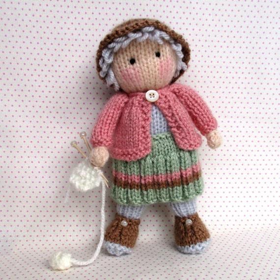 Get Knitting Grandma : Granny pearl loves knitting pdf instant download doll