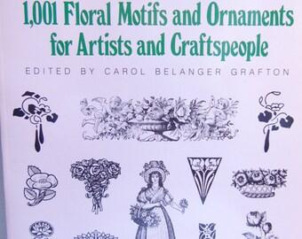 Vintage Dover Clip Art Book Floral Motifs and Ornaments for Wedding Invites, Digital Design