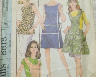 Wrap-Around Dress Alone or Over Apron Pattern /Medium /UNCUT