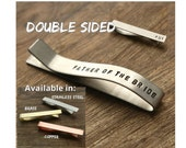 Personalize Tie Clip Father of the Bride Tie Clip Tie Bar Father of the Bride Tie Bar Engraved Tie Clip Father Gift Custom