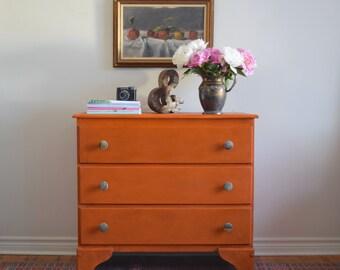 Orange Dresser/Changing Table- SOLD