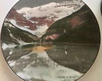 Royal Doulton Collectors Plate Lake Fine Bone China Home Office Decor Louise and Victoria Glacier Park