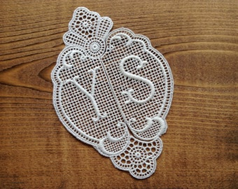 YS vintage embroidered monogram - swiss made long time ago