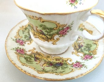 Vintage Paragon England Chippendale tea cup and saucer
