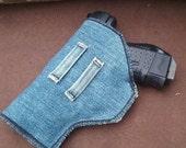 Holster, Gun Holster, Concealed Weapons Case, Denim Holster, Gun Holder
