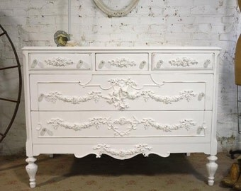 Painted Cottage Chic Shabby French Dresser DR884
