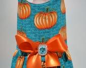 Dog Harness Vest - Pumpkin Halloween Thanksgiving Dog Harness