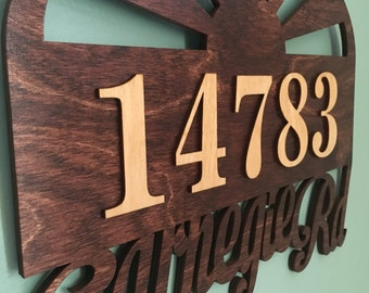 Custom Laser Cut Sun Address Sign