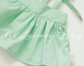 High Waisted Suspender Skirt -Vintage - Spring Mint- Baby Toddler Girl -Ties in Back - Adjustable - Mod Trendy - Summer Fall Family Pics
