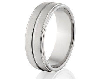 New 7mm Comfort Fit, Custom Titanium Ring, Free Sizing Band 4-17:  7RC1G-XB