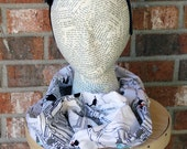 In Case of A Zombie Apocalypse Infinity Scarf Cowl Ready to Ship Gift Under 15