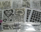 New Clear Acrylic Stamps Group 2 and Blocks