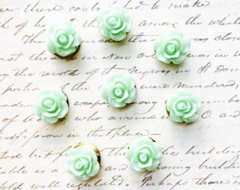 Push Pins - Decorative Push Pins - Office Supplies - Office Accessories - Flower Push Pins - Office Decor - Cute Push Pins - Pushpin - Green