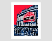 Chicago Cubs Wrigley Baseball Poster Print