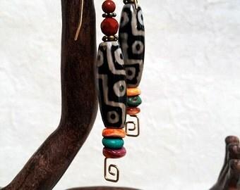 Tribal 14K Gold Fill Earrings