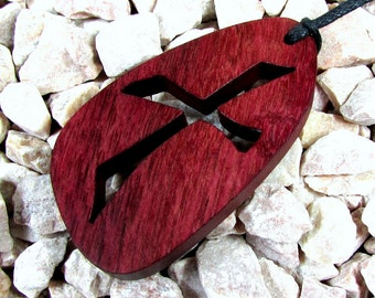 Cross Pendant / Single Cross / Purple Heart Wood