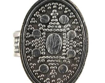 Vintage Tribal Middle Eastern Sterling Silver Vintage Ring
