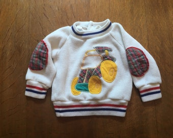 Vintage Race Car Sweater. 3-6 Months. Baby Clothing. Baby Boy Clothing. Fall Sweater. Back to School Fashion. Tiny Toes