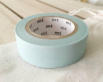 Solid Baby Blue Washi Tape Japanese baby shower decor Baby Blue masking tape light blue (191) - PrettyTape