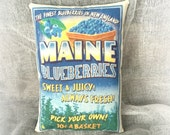 Blueberry Mini Pillow - Maine Blueberries