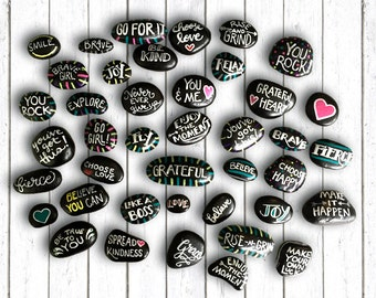 Inspirational Hand Painted Rocks