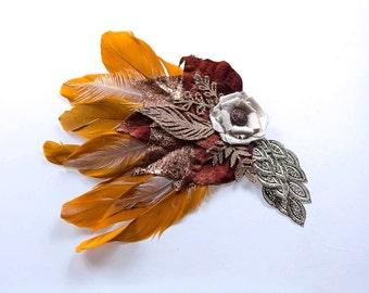 Dazzling Warrior Feather Hair Clip