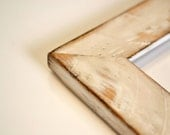 Reclaimed Pine Wood Picture Frame Rustic Distressed Frame - Vintage Color of Your Choice - Standard Frame Sizes