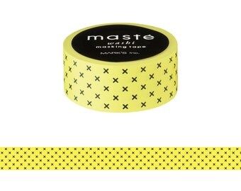 Yellow Cross Japanese Washi Tape • Masté Masking Tape (MST-MKT143-YE)