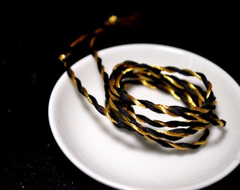 Black and Gold Cord - Graduation Cap Cord - Tassel Cord - Supply - Hand Spun Cord