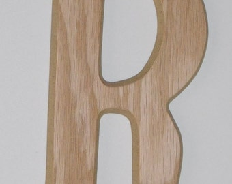 Wooden Letter R - 6 Inch
