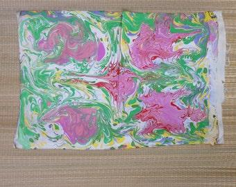 Suminagashi Style Fabric