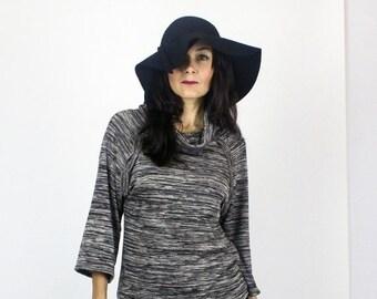 Black Friday SALE Tresse sweater knit top / Oversized Boho sweater / Cowl neck top