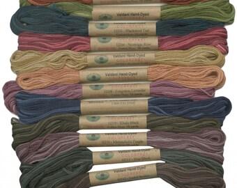 12 Valdani 6 Strand Floss Embroidery Thread Heirloom 10 Yd Skeins