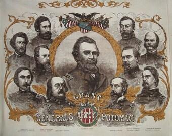 Chamberlain Civil War Generals Army Potomac Windham Cotton Quilting Fabric Panel