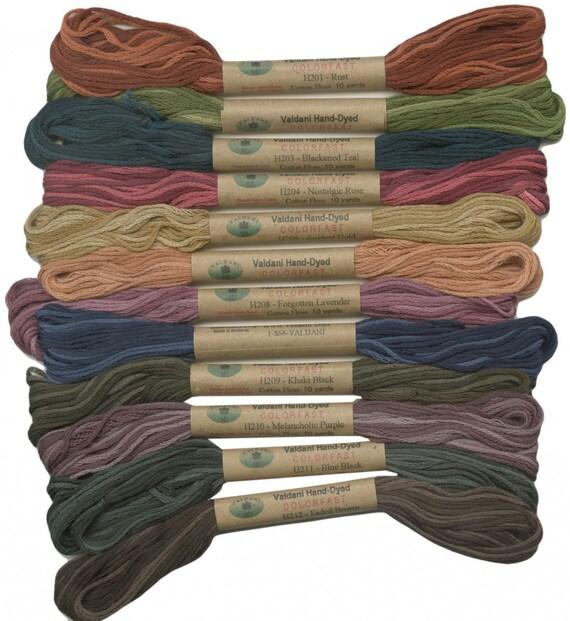 12 Valdani 6 Strand Floss Embroidery Thread Heirloom 10 Yd