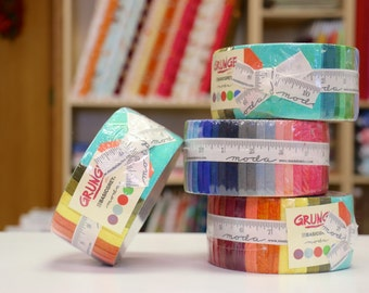 Grunge Jelly Roll Rainbow by Moda Fabrics - 2.5 inch strips