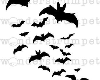 Halloween Stencil Series - Bats
