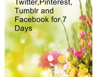 Twitter,Pinterest and Tumblr for 7 Days-I will pin up to 50 items to My Pinterest