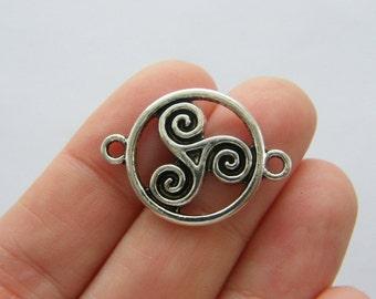 BULK 50 Celtic knot connector charms antique silver tone R68