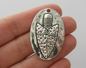 BULK 5 Arrow head pendants antique silver tone G81 - SALE 50% OFF